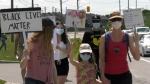 Anti-racism rally in Riverside South
