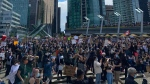 Thousands of people gather in Jack Poole Plaza in downtown Vancouver for an anti-racism rally on Friday, June 5, 2020.