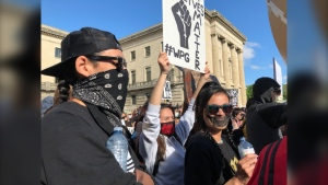 More than 1,000 people gathered at the Manitoba Legislature for the Justice 4 Black Lives rally.