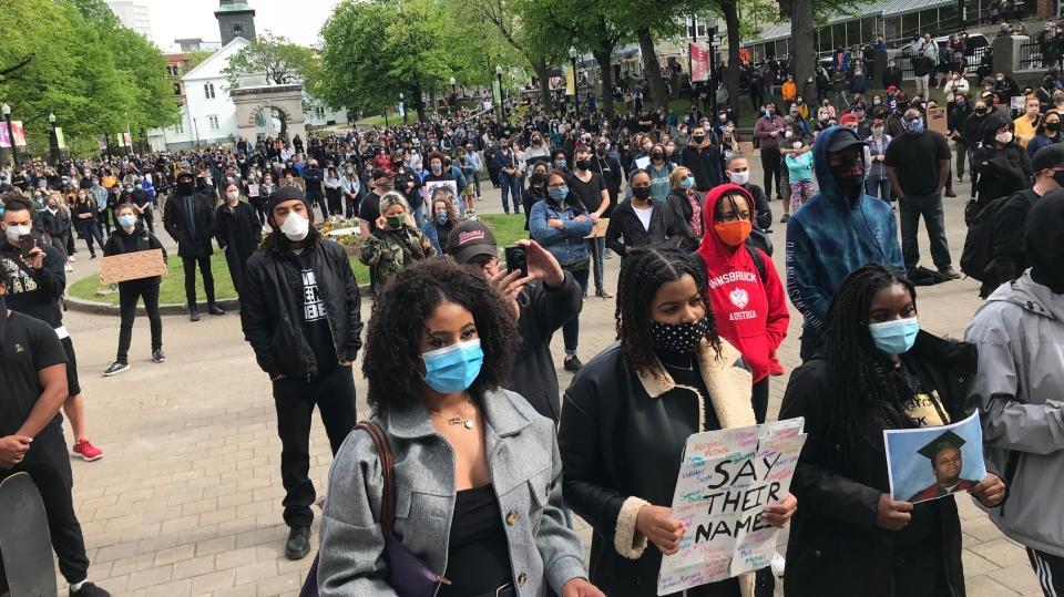 Halifax anti-racism vigil
