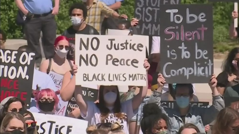 Black Lives Matter protest marches in Regina