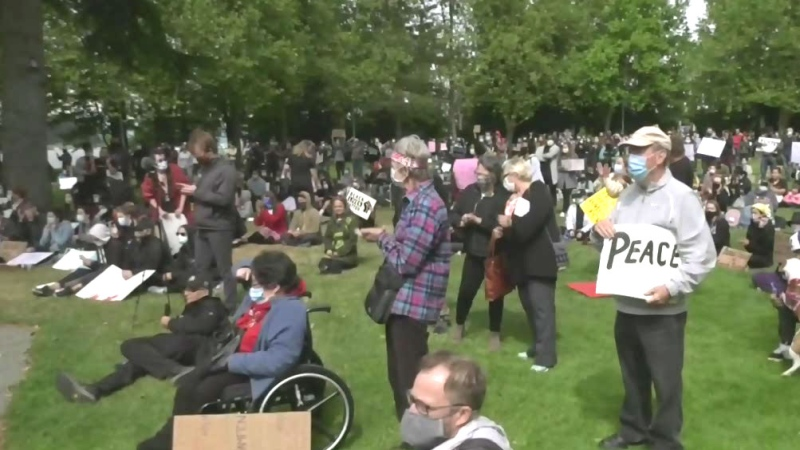 Nanaimo holds anti-racism demonstration