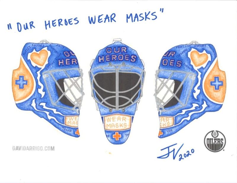 Jennifer Van der Hoek's helmet drawing