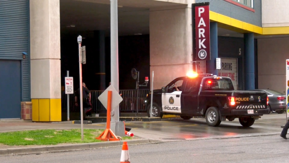 One person was killed in a shooting at a parkade in Eau Claire.