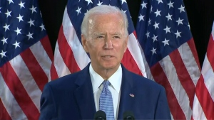 Biden slams Trump for invoking Floyd's name