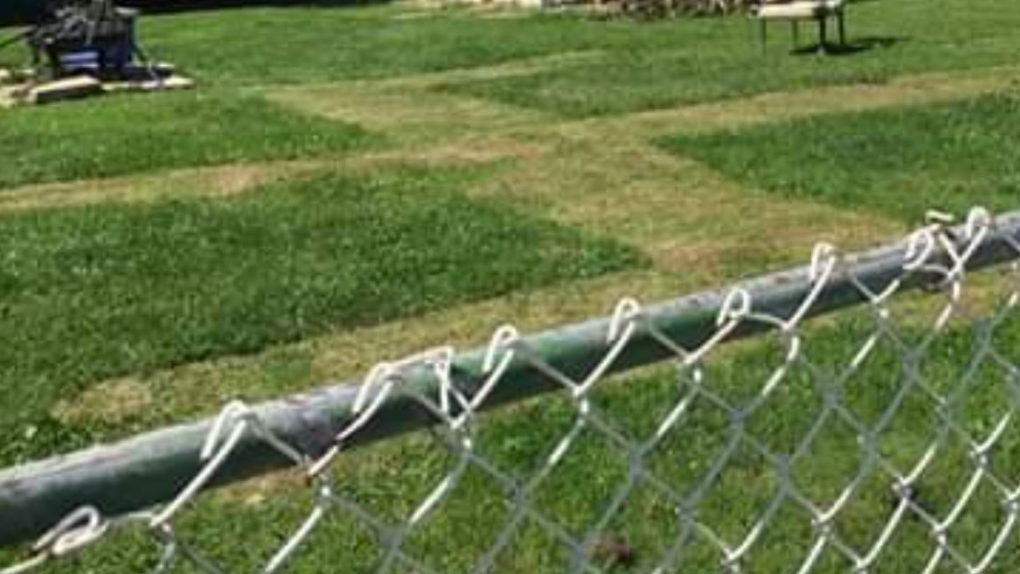 Swastika mowed into Amherstburg lawn