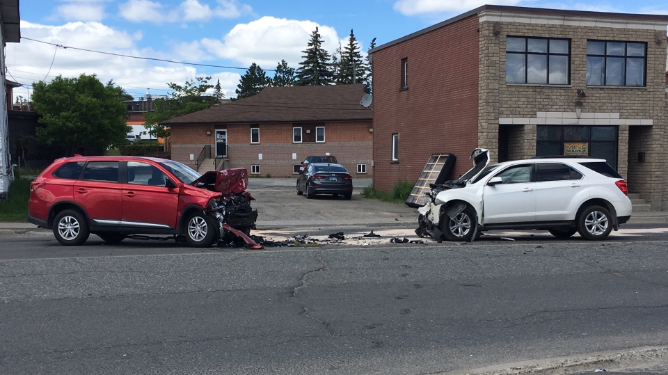 A 29-year old man is facing dangerous driving and drug charges following a head-on collision June 6 in Greater Sudbury. (Molly Frommer/CTV News)
