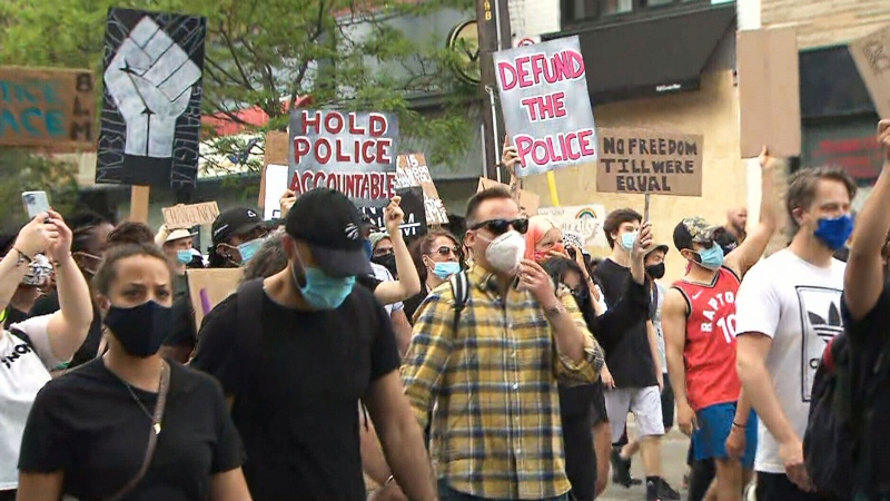Hundreds protest anti-Black racism in Toronto
