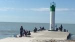 Port Bruce Ont. pier on June 6, 2020. (Brent Lale/CTV London)