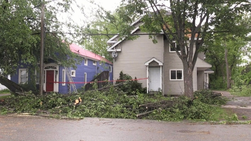 Fredericton cleans up after messy storm