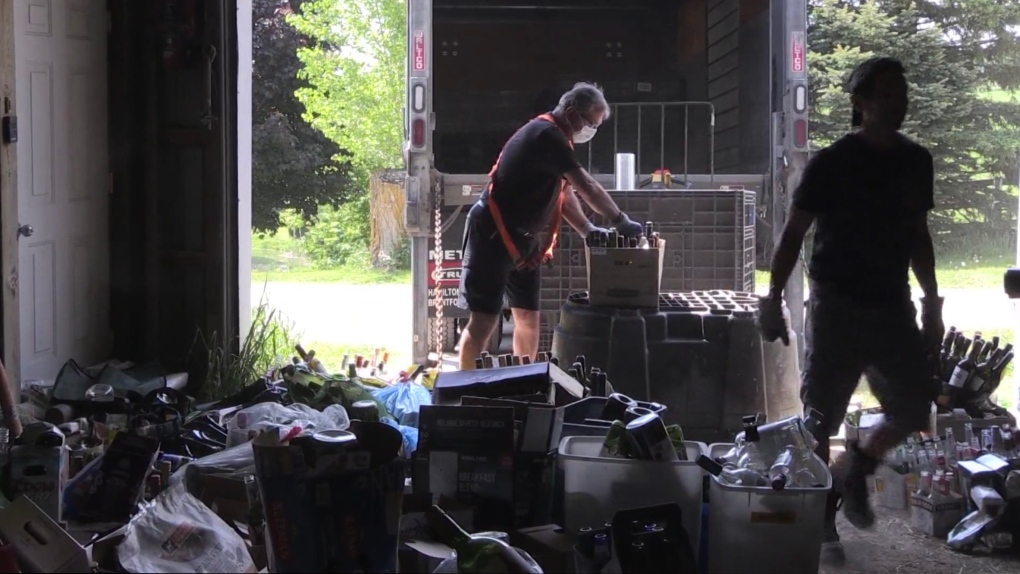 Bottle drive at Silver Willow Rescue Farm