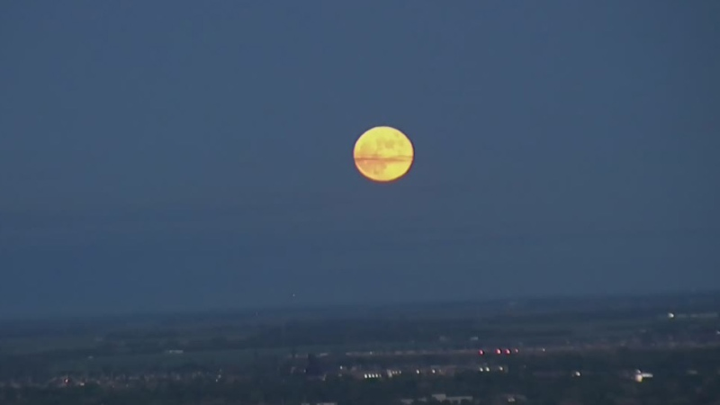 Strawberry moon dazzles Winnipeggers