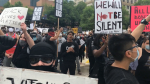 Thousands of people gathered in downtown Calgary on June 6, 2020 in support of the global Black Lives Matter movement.