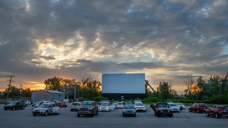 St-Eudstache Drive-in amid the COVID-19 crisis