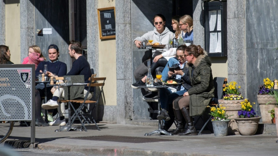 Most businesses have remained open in Sweden during the pandemic. (AFP)