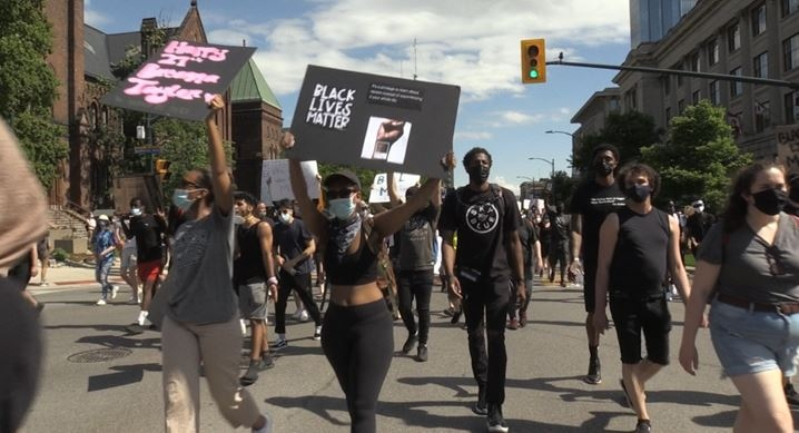 Black Lives Matter rally in London, Ont.