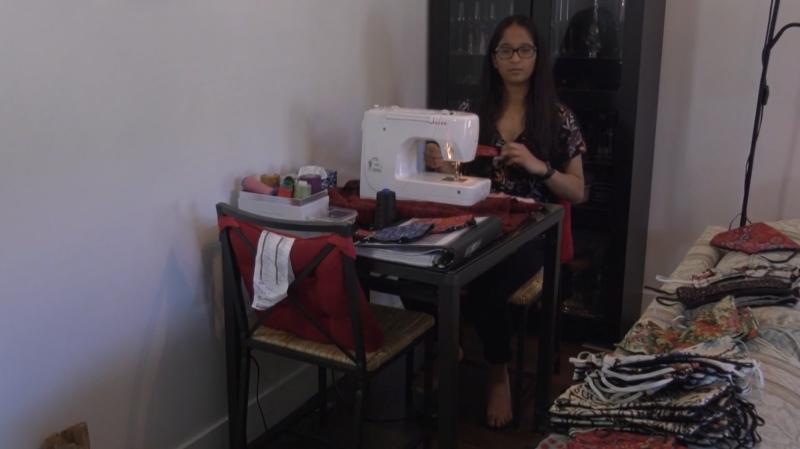 Tavisha Kochhar, 14, has made and sold hundreds of face masks.