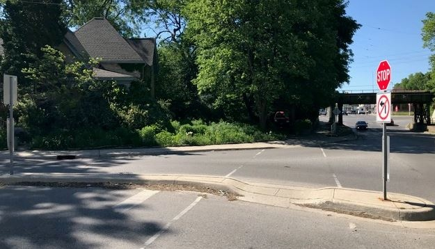 The city has plans to widen Wharncliffe Road and a rail underpass, between Stanley and Horton Streets and Nan Finlayson's home is in the way. (Sean Irvine/CTV London)
