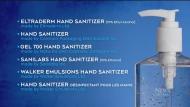 Hand sanitizer recall
