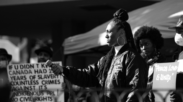 Thousands of people came together at Victoria's Centennial Square to hold a demonstration in support of the Black Lives Matter movement: June 7, 2020 (Stephanie Roussinos)