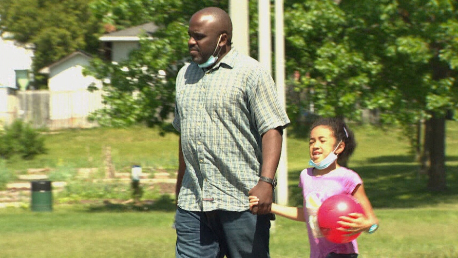 Obi Ifedi is seen in this image with his daughter.