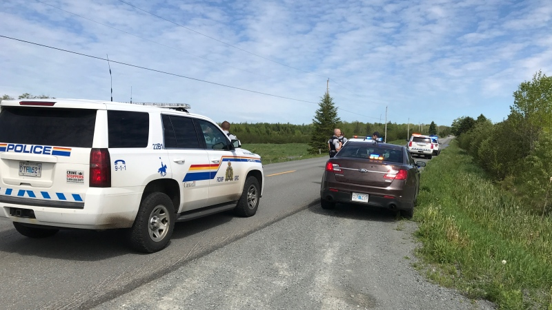 The RCMP respond to the scene of a fatal dog attack in Middle Musquodoboit, N.S., on June 9, 2020. (Carl Pomeroy/CTV Atlantic)