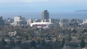Downtown Victoria is seen from Mt. Tolmie: (CTV News)