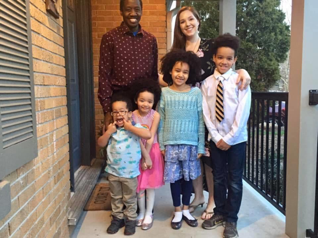 Mitchell Musovsi and his family