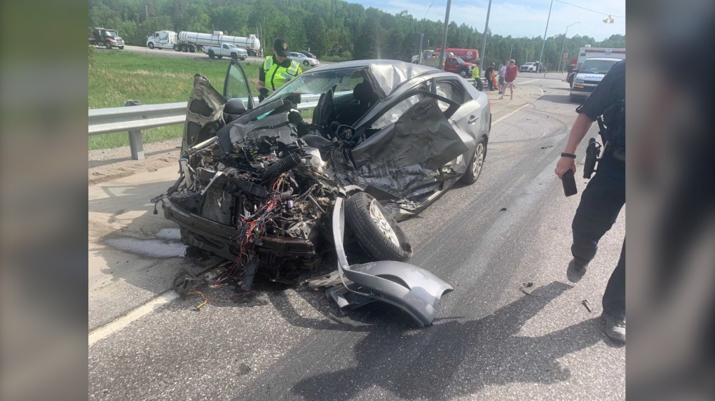 Two vehicle collision closes Highway 17