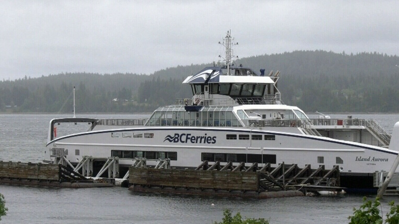 BC Ferries' hybrid-electric Island Aurora vessel is pictured. The similar Island Discovery ferry suffered mechanical challenges Wednesday: (CTV News)