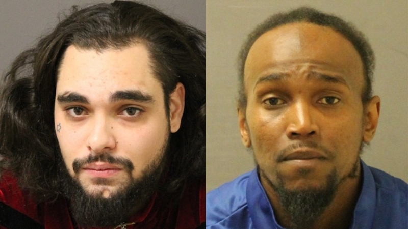 Tyler John Lancha, 26, left, and Kokoete Anietie Udoh, 39, both of London, Ont. are seen in this image released by the London Police Service.