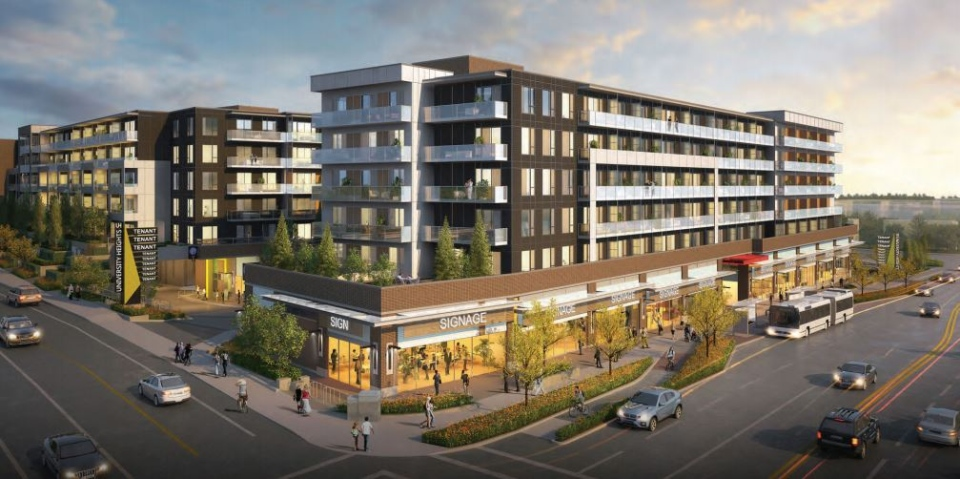 An artist's rendering of the proposed University Heights redevelopment in Saanich: (Wesbild)
