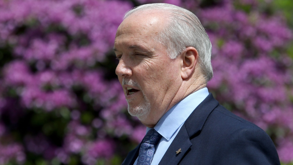 B.C. Premier John Horgan is scheduled to make an announcement Wednesday afternoon: (File Photo)