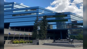 The municipal building in downtown Calgary.