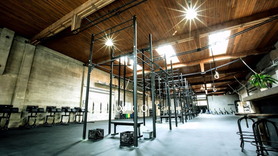 The interior of CrossFit 604 in Vancouver, B.C. is seen in this image from the gym's Facebook page.