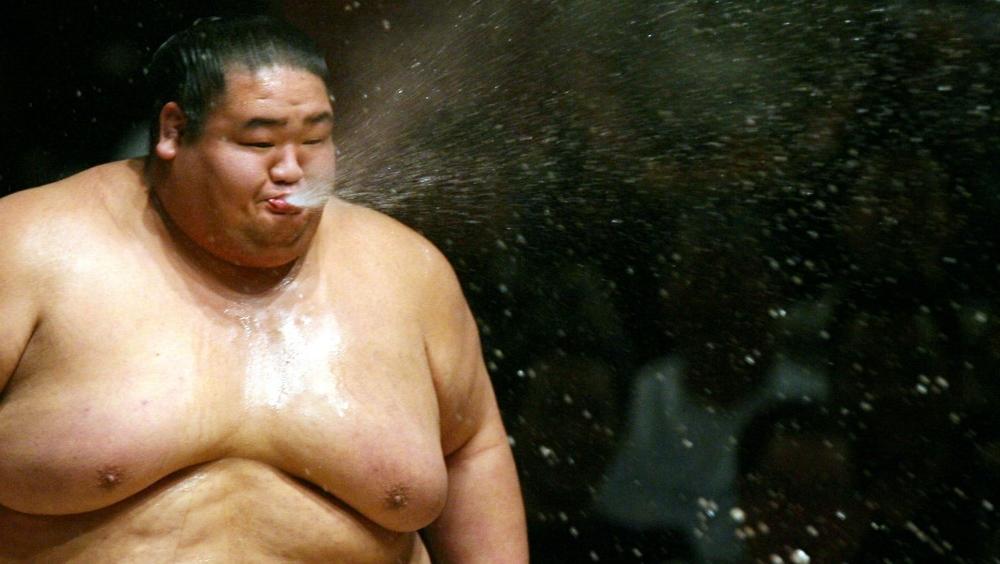 Sumo wrestlers.