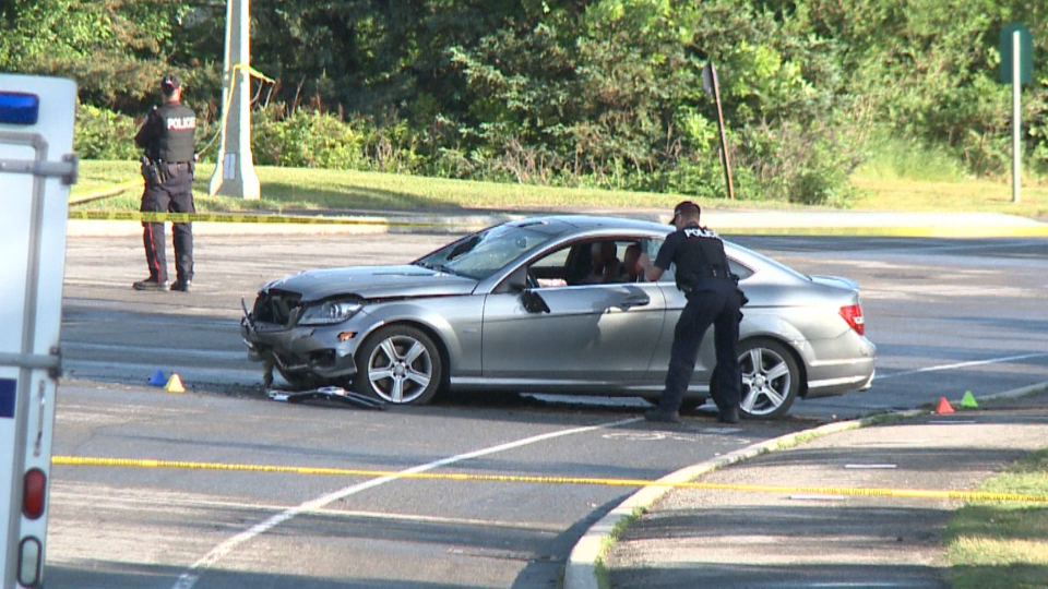 Ottawa Police and RCMP are on scene investigating a serious crash in the area of Island Park Drive and the Sir John A. Macdonald Parkway June 10, 2020. (CTV News Ottawa)