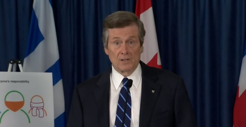 Mayor Tory speaking