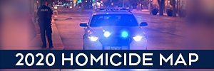 2020 Homicide Map Winnipeg