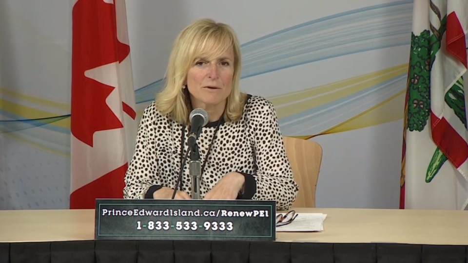 Prince Edward Island's chief medical health officer, Dr. Heather Morrison, provides an update on COVID-19 during a news conference on June 11, 2020.