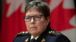 RCMP Commissioner Brenda Lucki is seen during a news conference in Ottawa, Monday, April 20, 2020. THE CANADIAN PRESS/Adrian Wyld