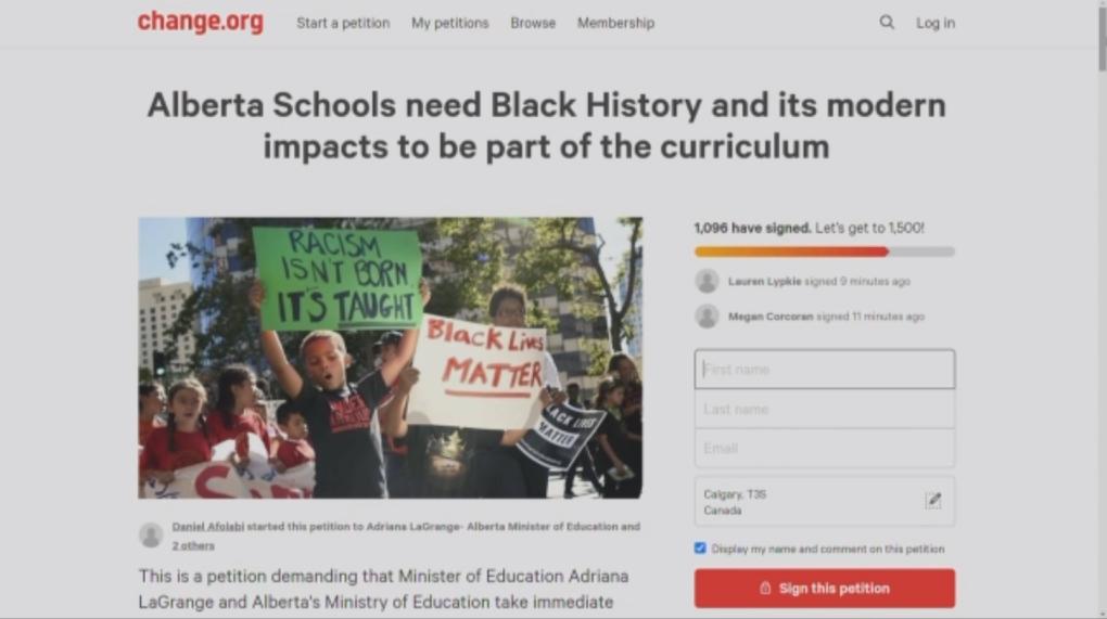 Alberta petition