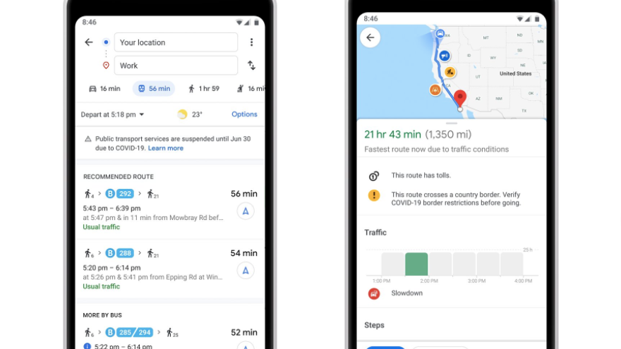 Google Maps launches new features to help commuters avoid crowds ...