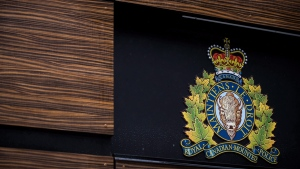"The RCMP logo is seen outside Royal Canadian Mounted Police ""E"" Division Headquarters, in Surrey, B.C., on Friday April 13, 2018. A drive to make the RCMP's workforce more diverse stalled last year as the Mounties struggled to become fully representative of the communities they police, newly available statistics show. (THE CANADIAN PRESS/Darryl Dyck)"