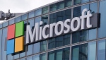 This April 12, 2016 file photo shows the Microsoft logo in Issy-les-Moulineaux, outside Paris, France. (AP Photo/Michel Euler, File)