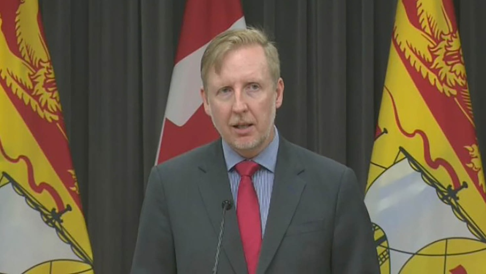 New Brunswick Education Minister Dominic Cardy provides an update on the 2020-21 school year on June 12, 2020.