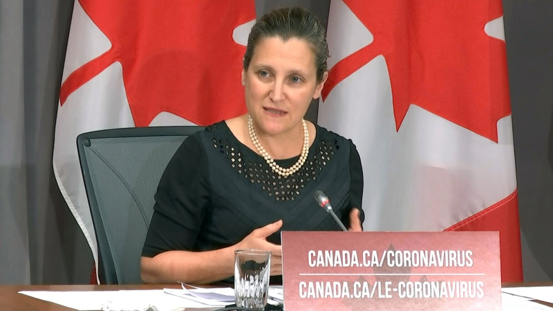 Freeland on non-essential travellers in Canada