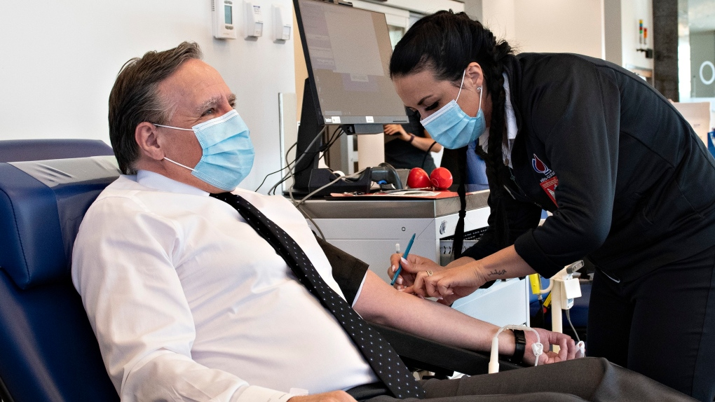 Legault answers the call for blood during crisis