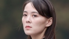 In this March 2, 2019, file photo, Kim Yo Jong, sister of North Korea's leader Kim Jong Un attends a wreath-laying ceremony at Ho Chi Minh Mausoleum in Hanoi, Vietnam. (Jorge Silva/Pool Photo via AP, File)