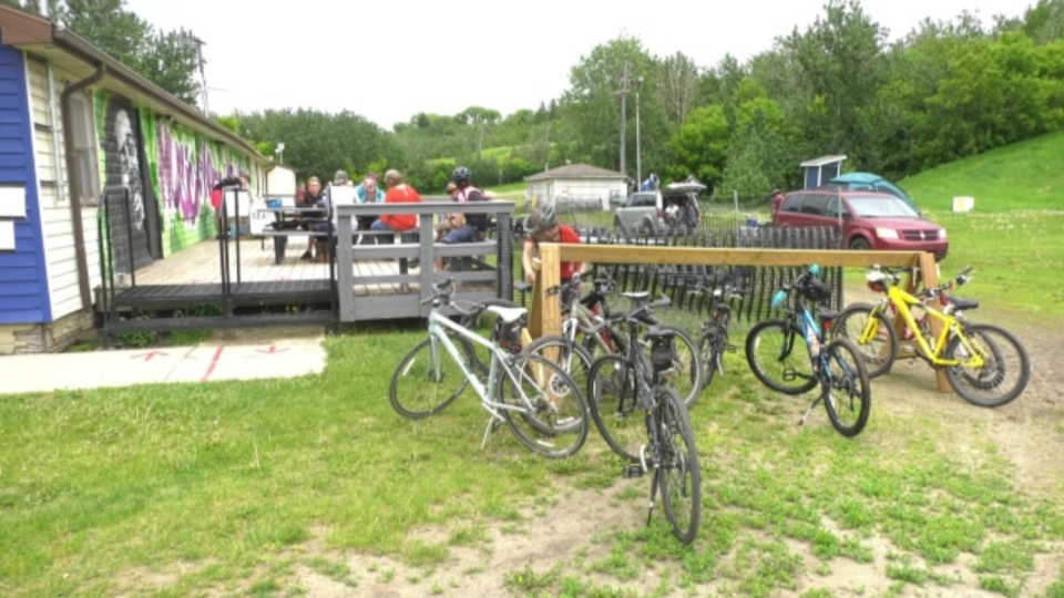 The Edmonton Ski Club is offering services to cyclists in the summer. June 13, 2020. (CTV News Edmonton)